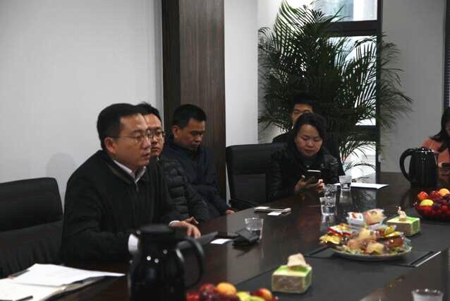 中国银河金融控股有限责任公司宋卫刚等人与瑞聚股份高层进行座谈交流
